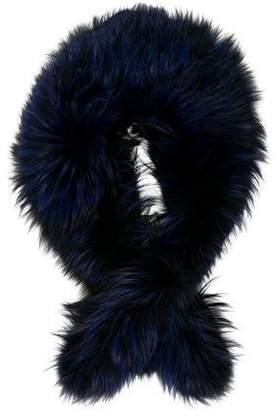 Carmen Marc Valvo Fox Fur Shawl