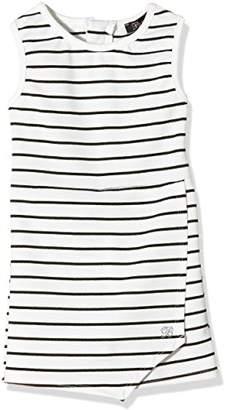 Blush Lingerie Girl's Crepe Skort Striped Dress, Off-White
