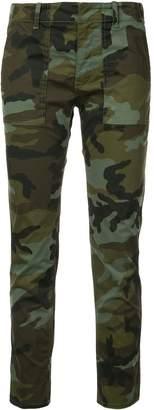 Nili Lotan Cropped Camo Print Pants
