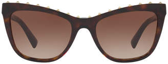 Valentino Va4022 54 Brown Cat Sunglasses