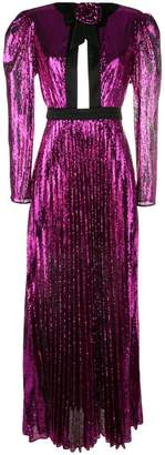 Philosophy di Lorenzo Serafini pleated sequin maxi dress