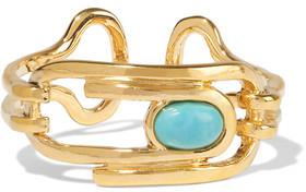 Aurelie Bidermann Angelica Gold-Plated Turquoise Ring