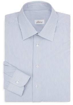 Brioni Regular-Fit Stripe Cotton Dress Shirt