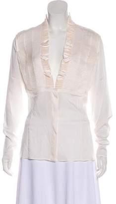 Gucci Ruffled Silk Blouse