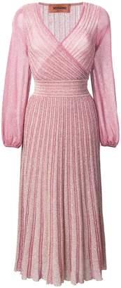 Missoni glitter knitted midi dress