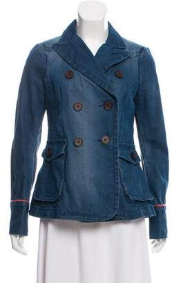 Marc Jacobs Denim Double-Breasted Jacket