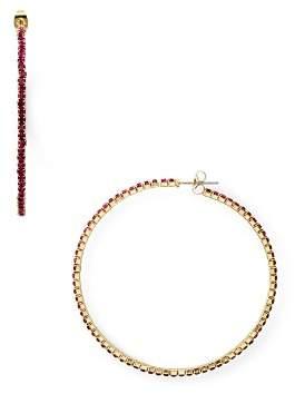 Aqua Rhinestone Hoop Earrings - 100% Exclusive