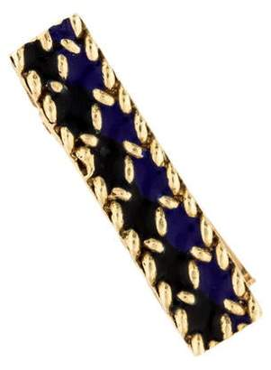 Tie Clip 14K Enamel Tie Clip