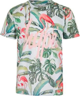 Hype Girls Green flamingo print T-shirt