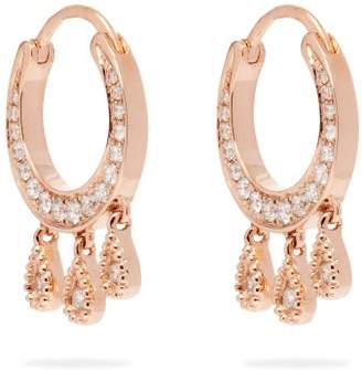 Jacquie Aiche Diamond & Rose Gold Earrings - Womens - Gold