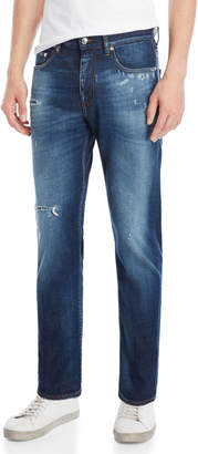 Love Moschino Mid-Rise Distressed Jeans