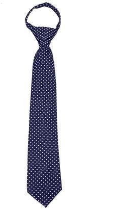Buy Your Ties Boy's 14 inch Polka Dot 14 inch Zipper Necktie