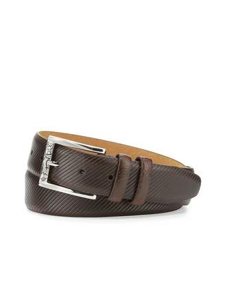 Robert Graham Martin Embossed Leather Belt, Brown $30 thestylecure.com