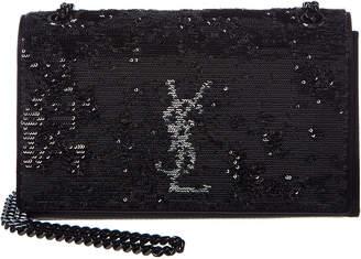 Saint Laurent Small Kate Monogram Sequin Shoulder Bag