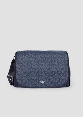 e7915f077b Emporio Armani Changing Bag In All-Over Logoed Fabric