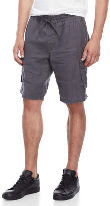 Onia Stripe Linen Flat Front Shorts