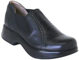 Dromedaris Leather Slip On Elastic Shoes - Falcon