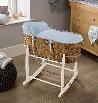 Clair De Lune Cotton Dream Hyacinth Moses Basket - Blue