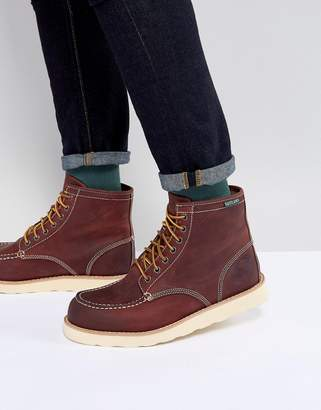 At Asos Eastland Lumber Up Leather Boots In Oxblood