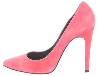 Pierre Hardy Suede Pointed-Toe Pumps