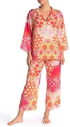 Natori N Mandarin Pajama 2-Piece Set
