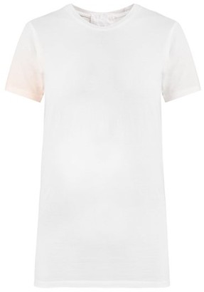 Audrey Louise Reynolds - Ombre Cotton Jersey T Shirt - Womens - Pink White