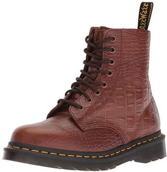 Dr. Martens Women's Pascal Croc Ankle Boots, (Dark Brown 201), 43 EU