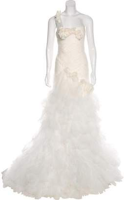 Marchesa Silk Tulle Wedding Gown