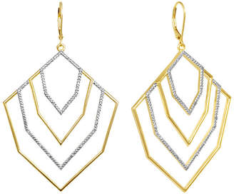 ADDICTION FINE JEWELRY Diamond 1/10 CT. T.W. Diamond Tiered Geometric Dangle Earrings
