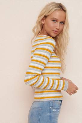 Garage Ribbed Crew Neck Sweater