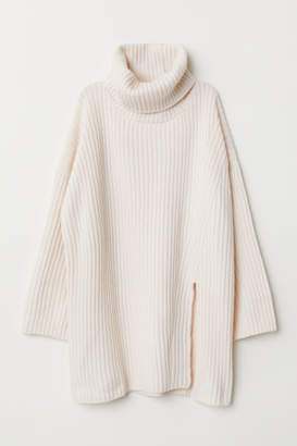 H&M Wool-blend Turtleneck Sweater - White