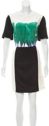 Tibi Printed Short Sleeve Dress