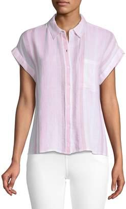 Rails Striped Short-Sleeve Shirt