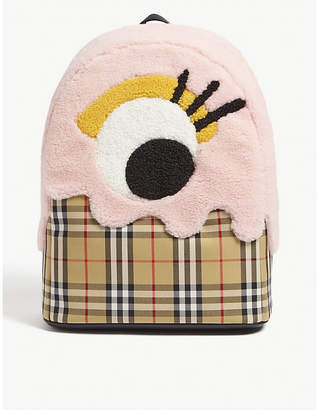 Burberry Monster motif vintage check backpack