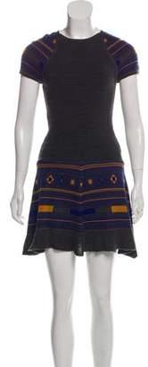 Yigal Azrouel Cut25 by Patterned Short Sleeve Mini Dress