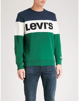 Levi's Stripe-pattern cotton-jersey sweatshirt