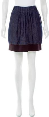 Brunello Cucinelli Chambray Mini Skirt
