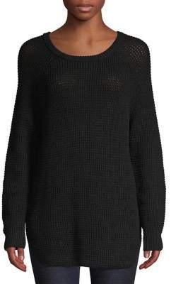 Lord & Taylor Waffle-Knit Longline Sweater