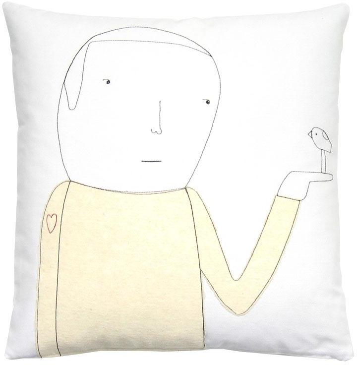 K Studio Heart on Sleeve Throw Pillow