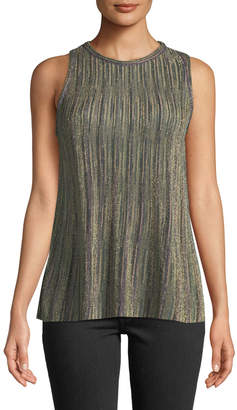 M Missoni Metallic Knit Sleeveless Top