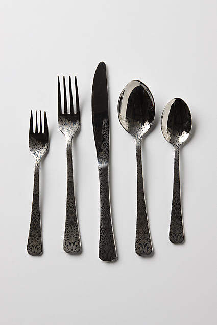 Anthropologie Dandelion Greens Flatware