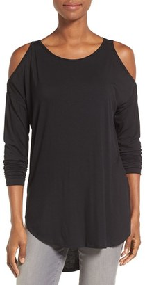 Women's Bobeau Cold Shoulder High/low Top $49 thestylecure.com