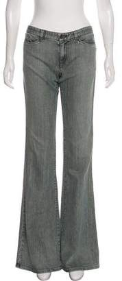 Theyskens' Theory Mid-Rise Flare-Leg Jeans
