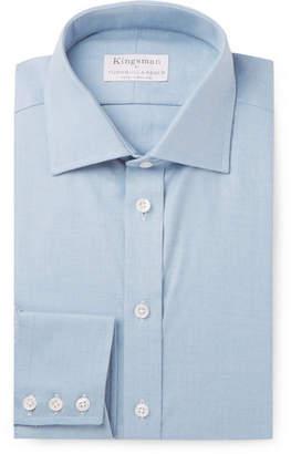 Turnbull & Asser Kingsman + Light-Blue Slim-Fit Cotton And Cashmere-Blend Twill Shirt