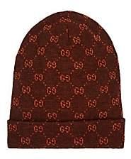 Gucci Men's GG Logo Alpaca-Wool Beanie - Brown