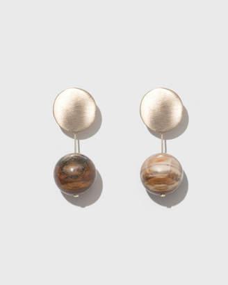 Modern Weaving Short Stone Drop Earrings