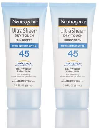Neutrogena Ultra Sheer Dry-Touch SPF 45 Sunscreen - Set of 2