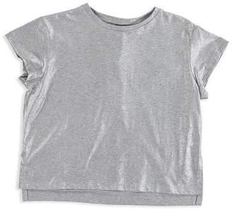 Stella McCartney Girls' Silver Foil Top - Little Kid, Big Kid