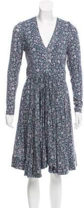 Rebecca Taylor Floral Print Midi Dress