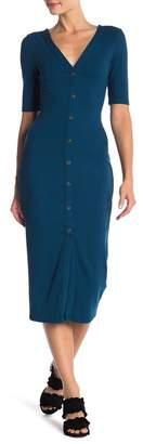 Vanity Room V-Neck Front Button Dress